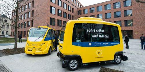 Autonome Minibusse an der Berliner Charité