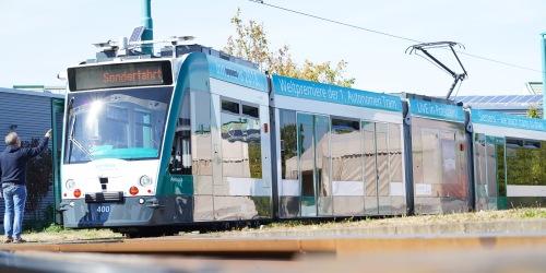 Weltweit erste autonome Strassenbahn in Potsdam getestet
