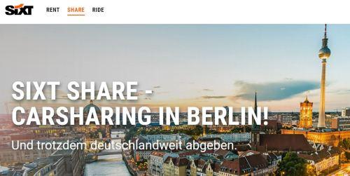 Sixt startet digitale Mega-Mobilitätsplattform in Berlin
