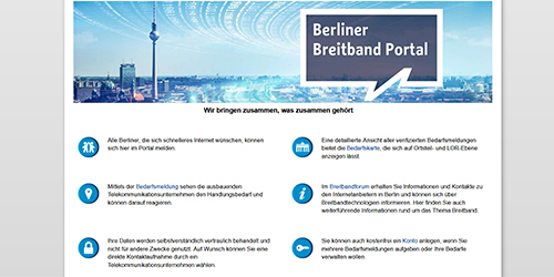Berliner Breitband Portal hilft Versorgungslücken zu schließen