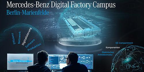 Motorenfabrik wird zur Mercedes-Benz Digital Factory