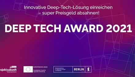 DEEP TECH Award 2021 verliehen